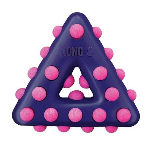 Kong игрушка для собак Dotz треугольник большой 17см