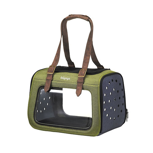 Ibiyaya складная сумка-переноска для собак и кошек до 6кг, зеленая