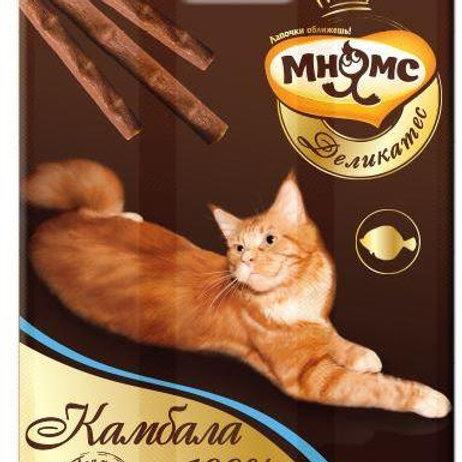 Мнямс деликатес лакомые палочки 9см для кошек с камбалой