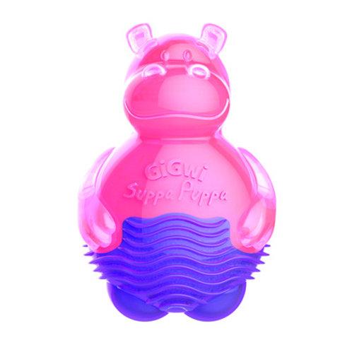 """Игрушка """"Бегемотик""""с пищалкой, розовый 9см GiGwi"""