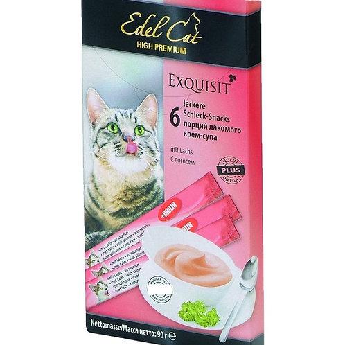 Лакомство крем-суп лосось нормализация пищеварения Edel Cat