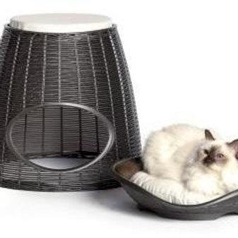 BAMA PET домик для кошек PASHA 52х60х46/55h см с подушечками коричневый