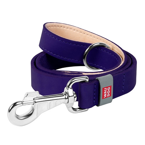 Поводок WAUDOG Classic (ширина 20мм, длина 122см) фиолетовый