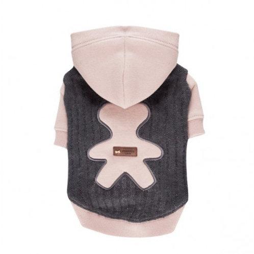 Puppia Худи с капюшоном и аппликацией медвежонком, серый, р-р L