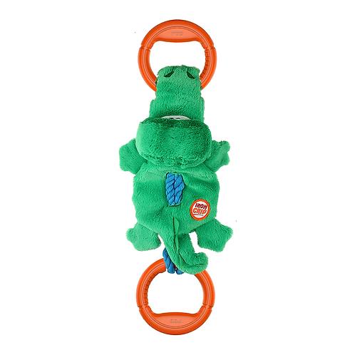 """Игрушка """"Крокодил"""" на веревке с ручками и пищалкой GiGwi"""