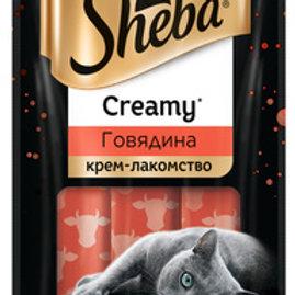 Крем-лакомство с говядиной Sheba (3 шт в упаковке)
