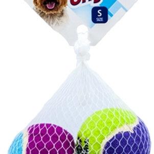 Игрушка 3 мяча с пищалками маленькие GiGwi