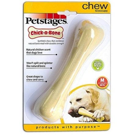 Petstages игрушка для собак Chik-A-Bone косточка с ароматом курицы 14см средняя
