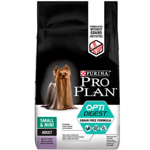 Purina Pro Plan Для взрослых собак малых пород с чувств. пищеварением с индейкой