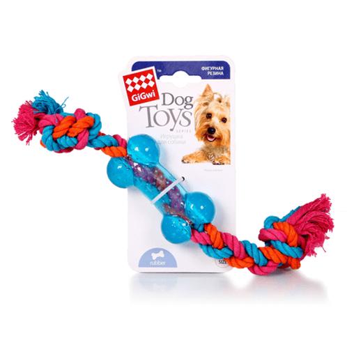 GiGwi игрушка для собак Косточка на веревке