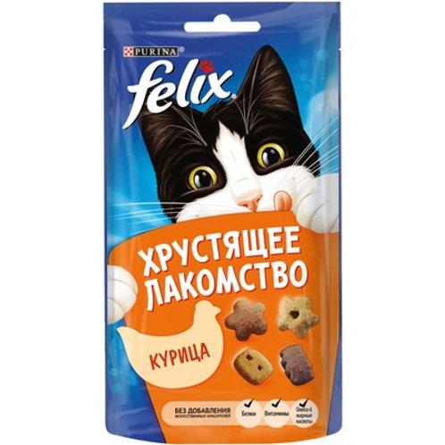 Хрустящее лакомство для кошек Felix (Курица)