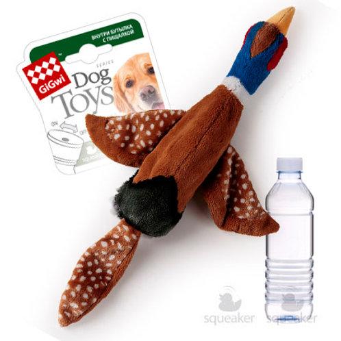 """Игрушка """"Птица"""" с пластиковой бутылкой с отключаемой пищалкой GiGwi"""