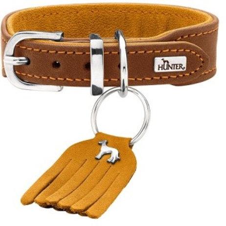 Hunter ошейник для собак Lucca Petit 37/3 (29-33см), кожа, коричневый