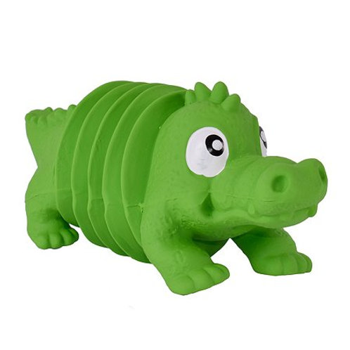 """ОН игрушка для собак Accordionz """"Крокодил"""" с пищалкой,15 см"""