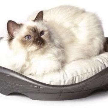BAMA PET лежанка с подушкой PASHA 48х46х11h см антрацит
