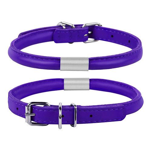 Ошейник WAUDOG GLAMOUR круглый с адресником (фиолетовый)