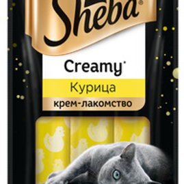 Крем-лакомство с курицей Sheba (3 шт в упаковке)
