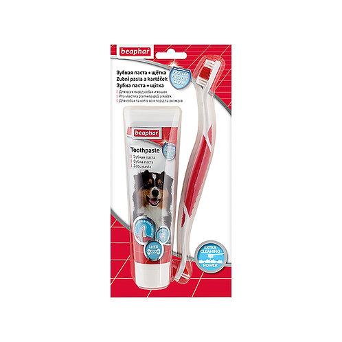 Beaphar набор зубная щетка и зубная паста