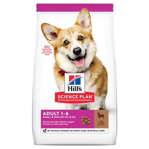 Hill's Science Plan корм для взрослых собак малых пород с ягненком