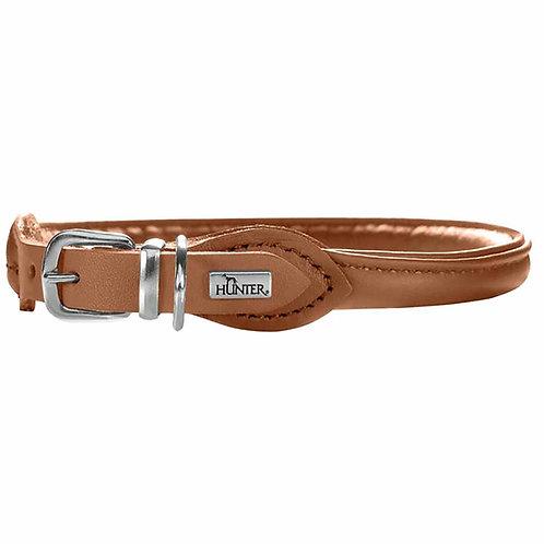Hunter ошейник для собак Round&Soft Elk 37/6 (30-33 см), кожа лося