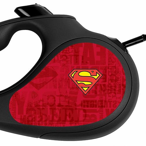 """Поводок-рулетка WAUDOG """"Супермен Лого Красный"""" р-р XS, 12кг/3м черный"""