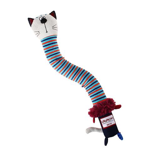 """Игрушка """"Кот"""" с пищалкой с хрустящей шеей GiGwi"""