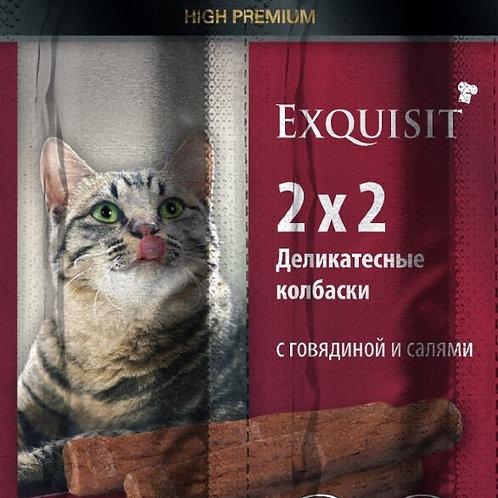 Колбаски-мини для кошек с говядиной и салями