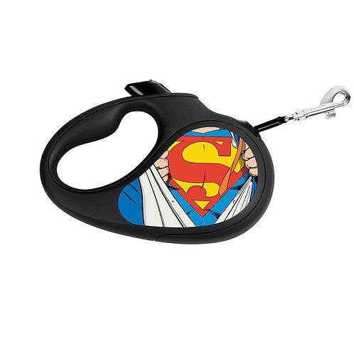 """Поводок-рулетка WAUDOG """"Супермен Герой"""" р-р XS, 12кг/3м черный"""