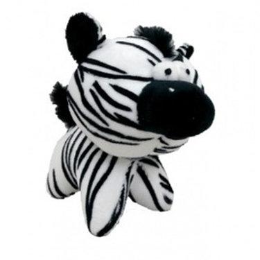 """Плюшевая игрушка для собак """"Глазастая зебра"""" с пищалкой, 12см"""