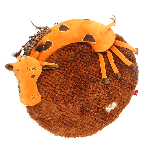 """Лежанка """"Жираф"""" 3D из текстиля и искусственного меха GiGwi"""