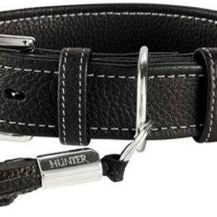 Hunter ошейник для собак Cannes 45 (29-37см)/2,8см кожа, черный