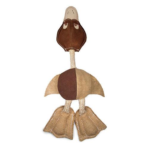 """ЭКО Игрушка для собак из натур кожи """"Дикая утка"""""""