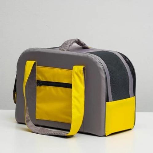 Сумка-переноска с карманом и креплением на чемодан (45х21х29см)