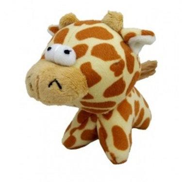 """Плюшевая игрушка для собак """"Глазастый жираф""""с пищалкой, 12см"""