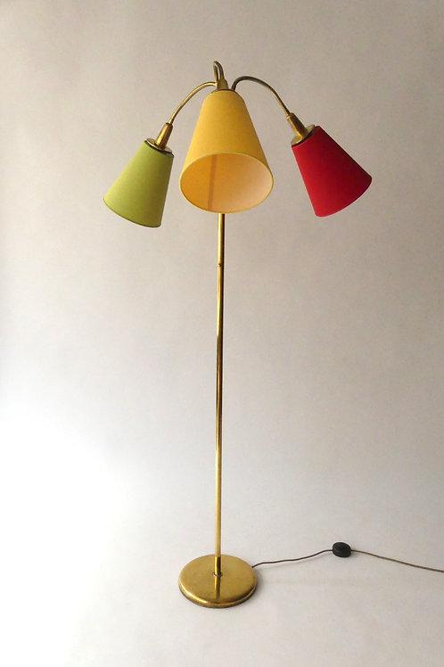 Vintage Lampe/ Stehlampe, Messing, Tripod