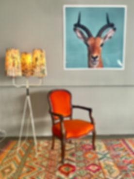 Vintage Möbel und Teppiche