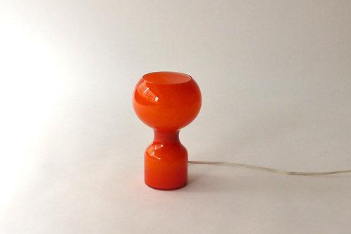 Vintage Lampe/ Tischlampe, orange, italienisches Design, Zürich