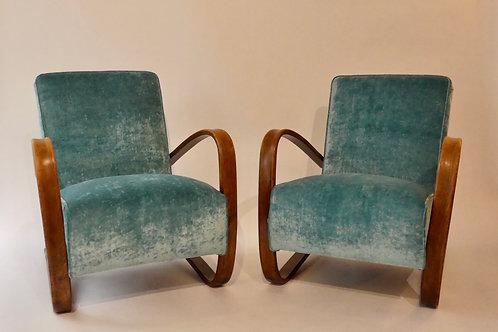 fauteuils h269 jindrich halabala vintage