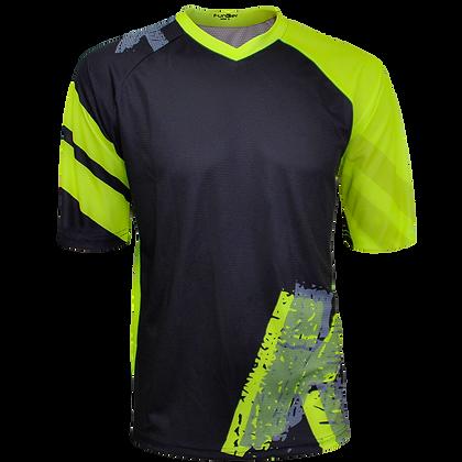 חולצת רכיבה פרי-רייד לגברים JE-846-S שחור ירוק