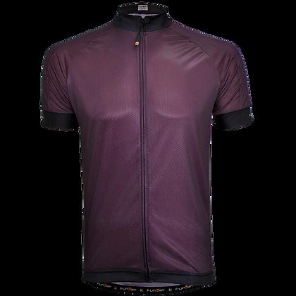 חולצת רכיבה קצרה לגברים J-930 בורדו