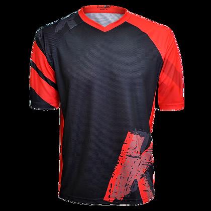 חולצת רכיבה פרי-רייד לגברים JE-846-S שחור אדום