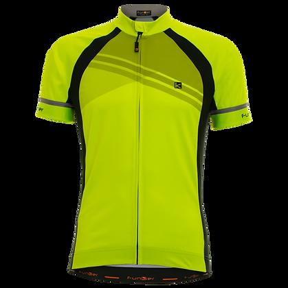 חולצת רכיבה קצרה לגברים צהוב J-826