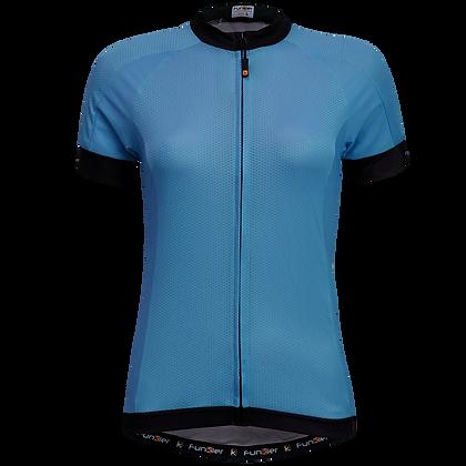 חולצת רכיבה לנשים שרוול קצר WJ-930 כחול