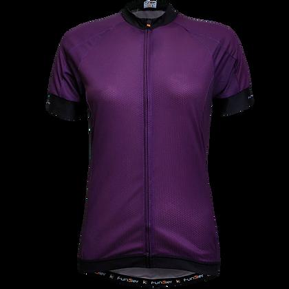 חולצת רכיבה לנשים שרוול קצר WJ-930 סגול