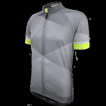 חולצת רכיבה קצרה לגברים J-848-GR-F