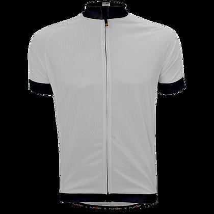 חולצת רכיבה קצרה לגברים J-930 לבן