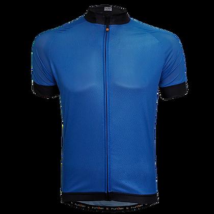 חולצת רכיבה קצרה לגברים J-930 כחול