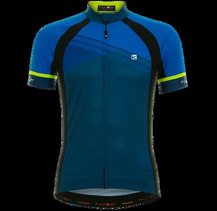 חולצת רכיבה קצרה לגברים כחול J-826