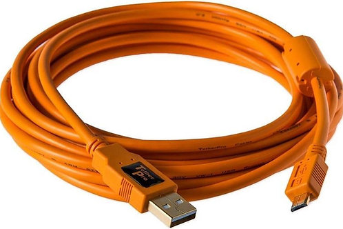 TETHER TOOLS TetherPro USB 2.0 A Male to Mini-B 8 Pin-15Ft (4.6m)