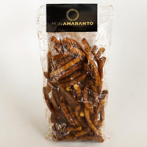 Churritos de Amaranto 100 g (sabor buffalo) - Mon Amaranto